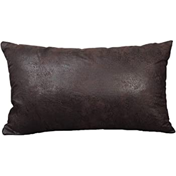 """Faux Leather Textured//Striated Black 14/""""x24/"""" Decorative Pillowcase//Cushion Cover"""