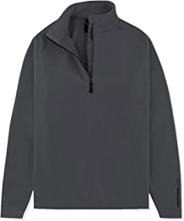 Musto Mens Crew 1/2 Zip Microfleece Charcoal - Breathable - Raised Silicone Print. High Neck
