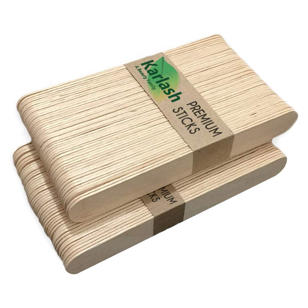 Karlash 500 Pieces Large Wax Spatulas In stock Sticks Applic Special sale item Wood Waxing