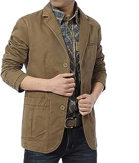 Men Suit Jacket Coat, Male Solid Long Sleeve Button Slim Fit Jacket Blazer Outwear
