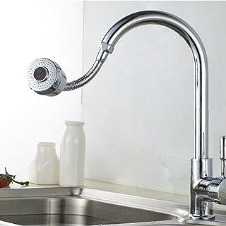 DemiawakingUK Flexible Water Saving Kitchen Tap Hose Faucet Aerator 360° Swivel Adjustable Nozzle Spout Diffuser Filter (S...