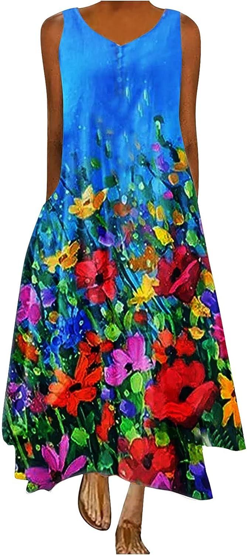 Fort Worth Mall Vintage Boho Maxi Dresses for Sundress Casual Beach latest Summer Women
