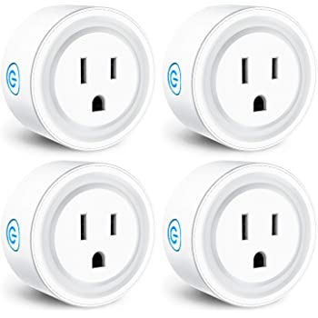 No Hub Required FCC Certified Smart WiFi Socket Magic Home Pro WiFi App Control Timer Schedule Smart Outlet Smart Plug Compatible with Alexa Google Assistant IFTTT Siri Shortcut 4 Pack