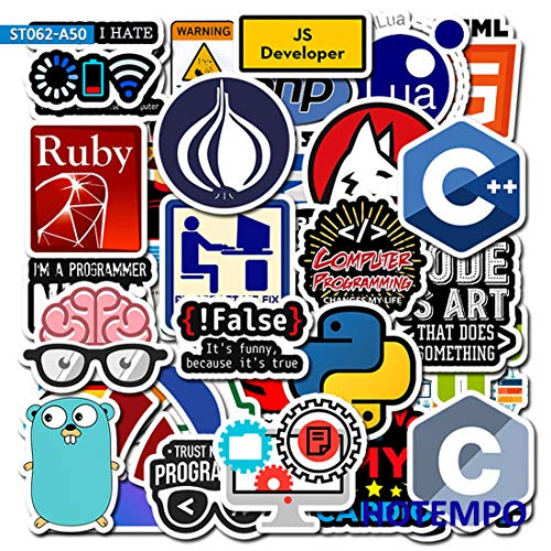 Programmeur Internet Java Sticker Bitcoin Programmeertaal Voor Mobiele Telefoon Laptop Stickers 50 stks