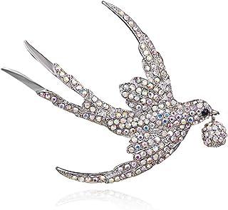 Filles Broche Style Vintage Broche Pour Les Femmes Dames Koojawind Belle Broche En Cristal Hirondelle Animal Petit Insigne Animal Pin Tortue Volante
