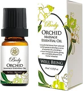 Massage Essential Oil Organic Blend for Stomach treatmeant include Orchid, Eucalyptus, Tea tree, Lemon, Lavender, Mint – for Acupressure & Shiatsu - 10ml