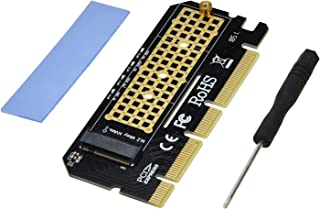 A ADWITS M.2 Key M NVME and AHCI SSD to PCIe 4X 8X 16x Adapter PCB, Compatible with Samsung 960 970 EVO PRO WD Black and More
