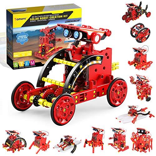 Tomons Solar Robot Kit 12 in 1 Science STEM Robot Kit Building Toys for Kids Aged 8-12 and Older,DIY...