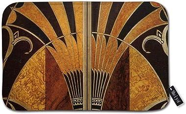 Cocoal-ltd Tapis d'entrée Art Nouveau Art Déco vintage élégant motif chic Tapis d'entrée Tapis de sol intérieur/porte