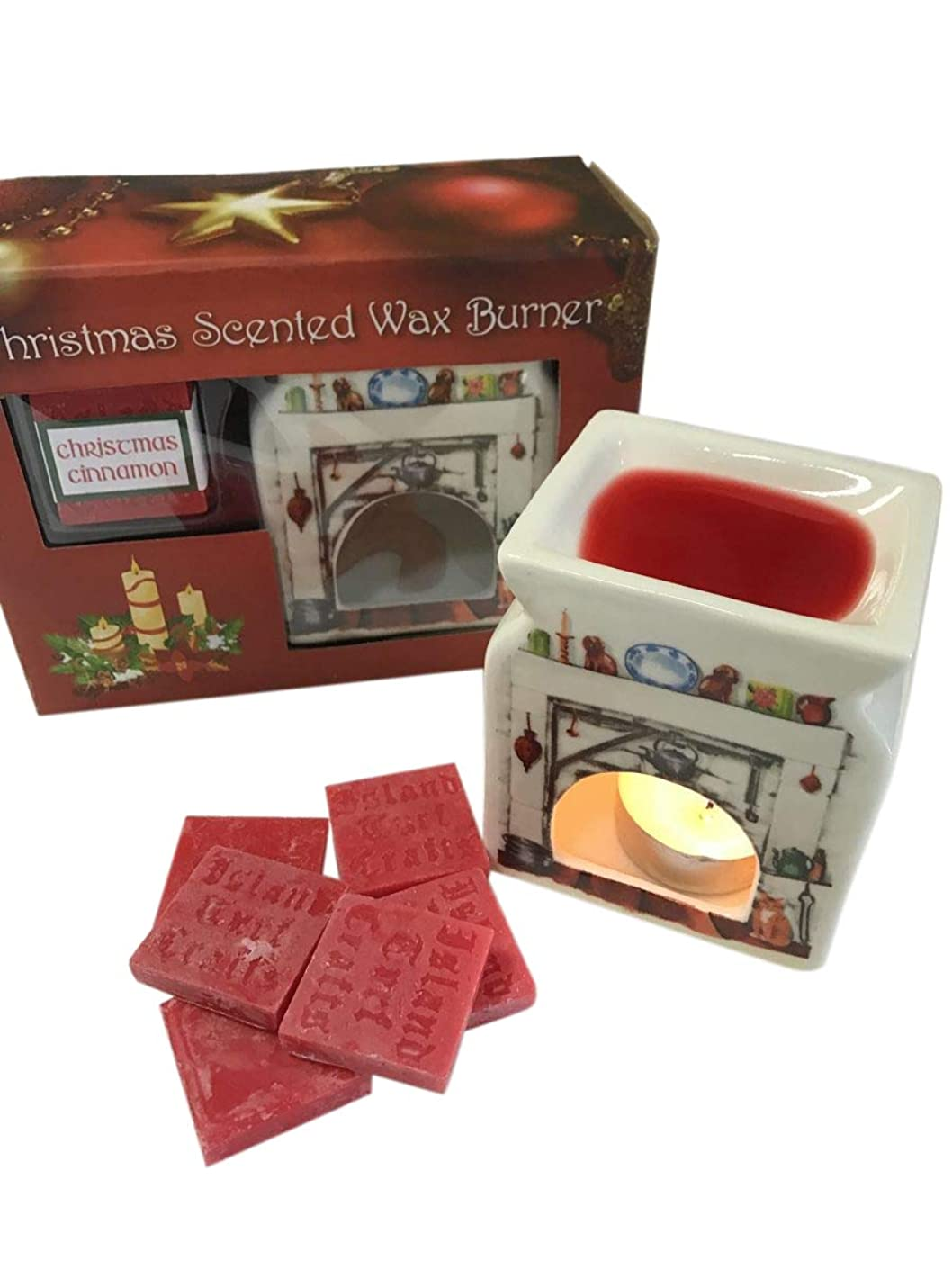 Island Turf Crafts Christmas Cinnamon Scented Irish Wax Burner Fireplace Home Decoration from Ireland