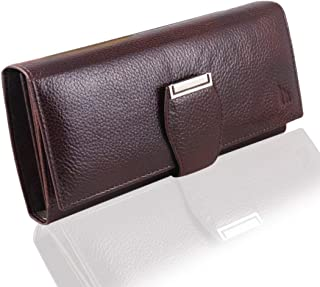 mtuggar Brown Leather Women's Wallet (CLHW-2805-BRN)