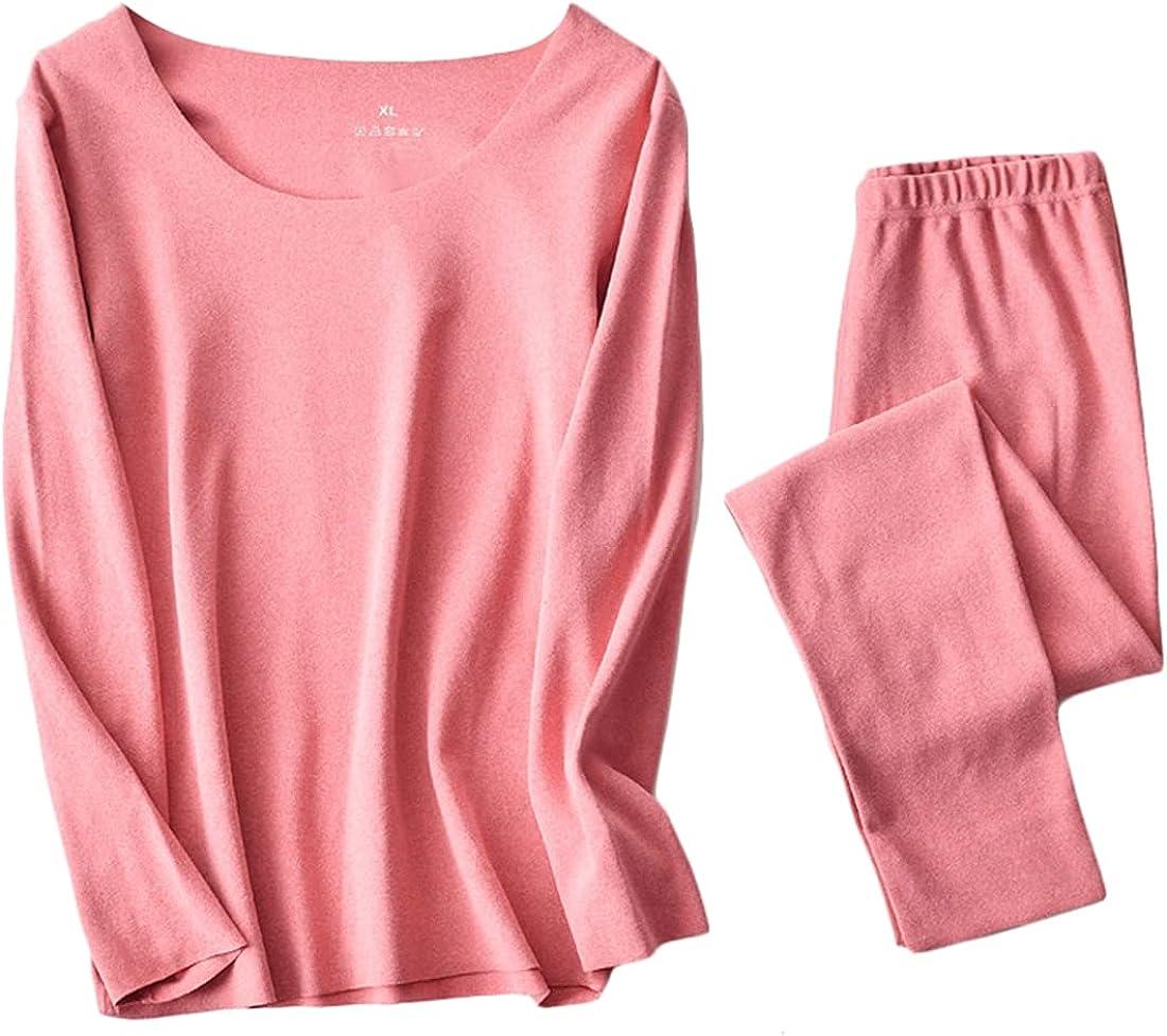 Cromoncent Women's Men's Thermal Underwear Long John Sets