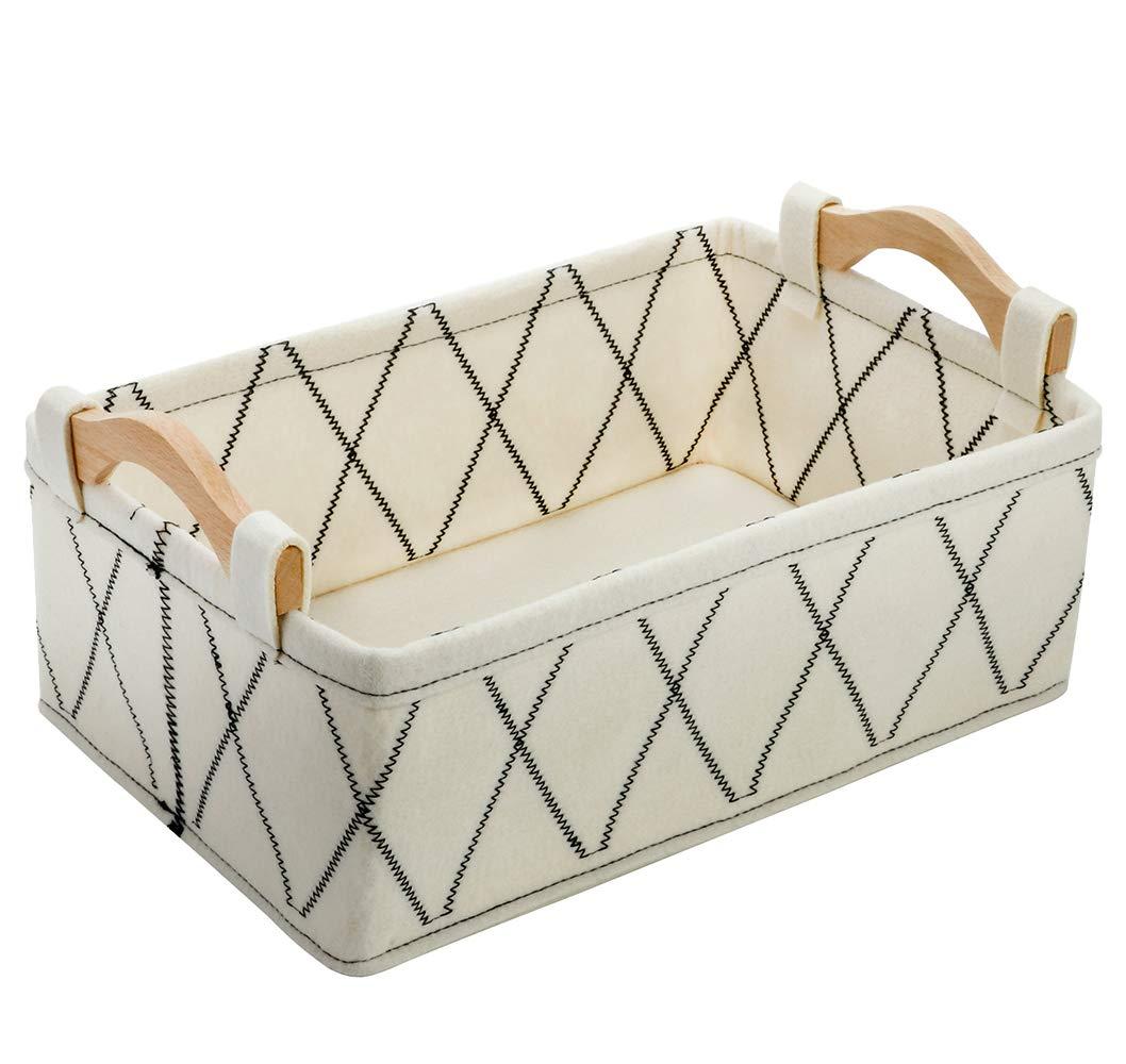 Small Basket Storage Baskets Oakland Mall Book Fel Shelf Bins Max 59% OFF