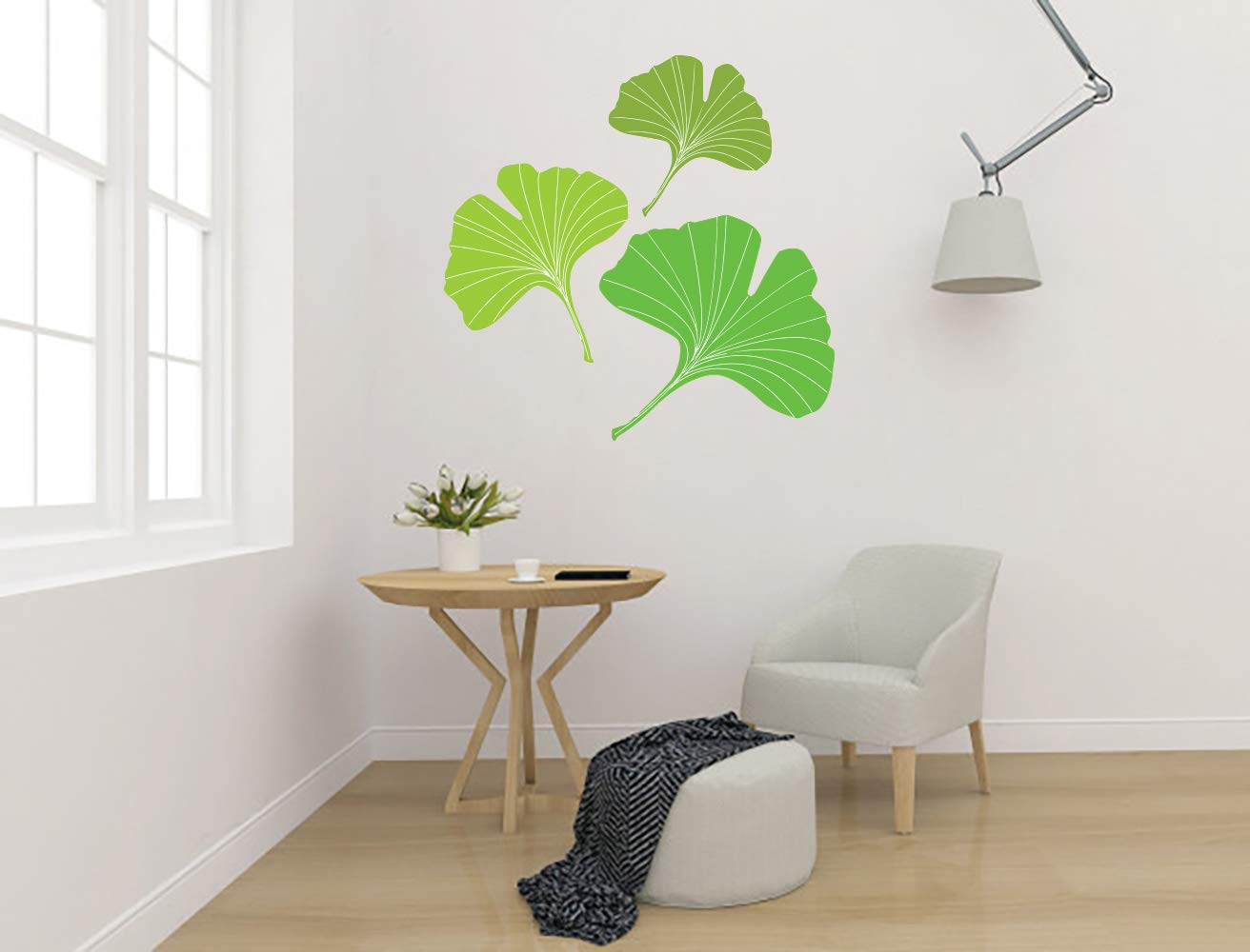 Ginkgo Biloba Leaf Plant Aesthetic Room Max 67% OFF M 2021 autumn and winter new Car Vinyl Wall Sticker