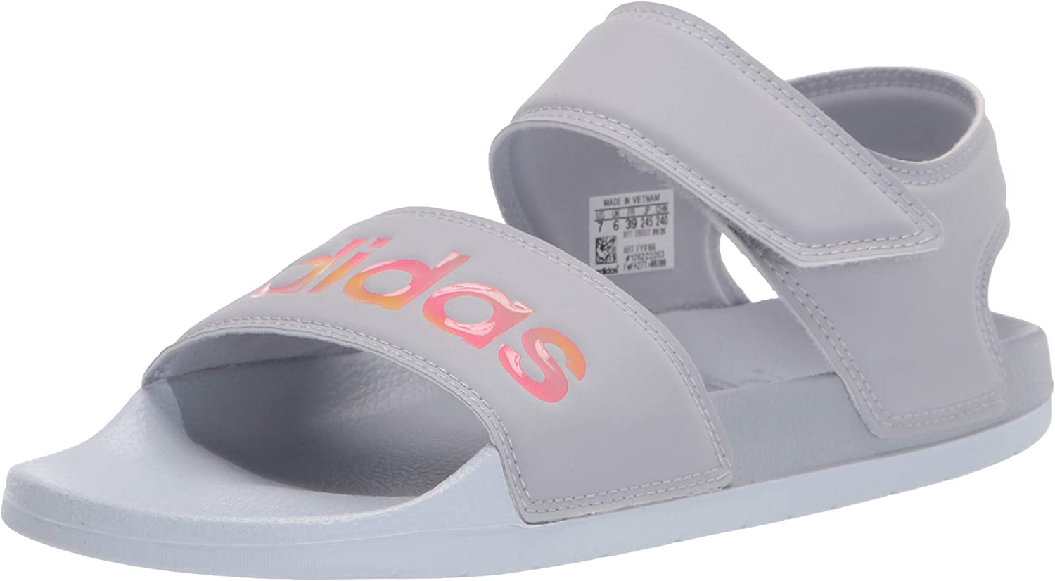adidas Super beauty product restock quality top! Women's Adilette Beauty products Sandal Slide Iridescent Halo Hal Silver