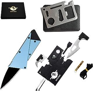 Credit Card Multitool Pocket Tool Kit Wallet Tool with Upgrade 18-IN-1 Credit Card Tool,11-IN-1 EDC Multitool Card,Folding Card Knife By I-LIFE (3 Kinds / set EDC Knife)