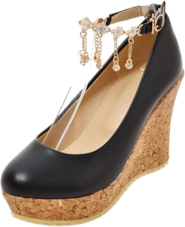 TAOFFEN Women's Fashion Wedges Court shoes