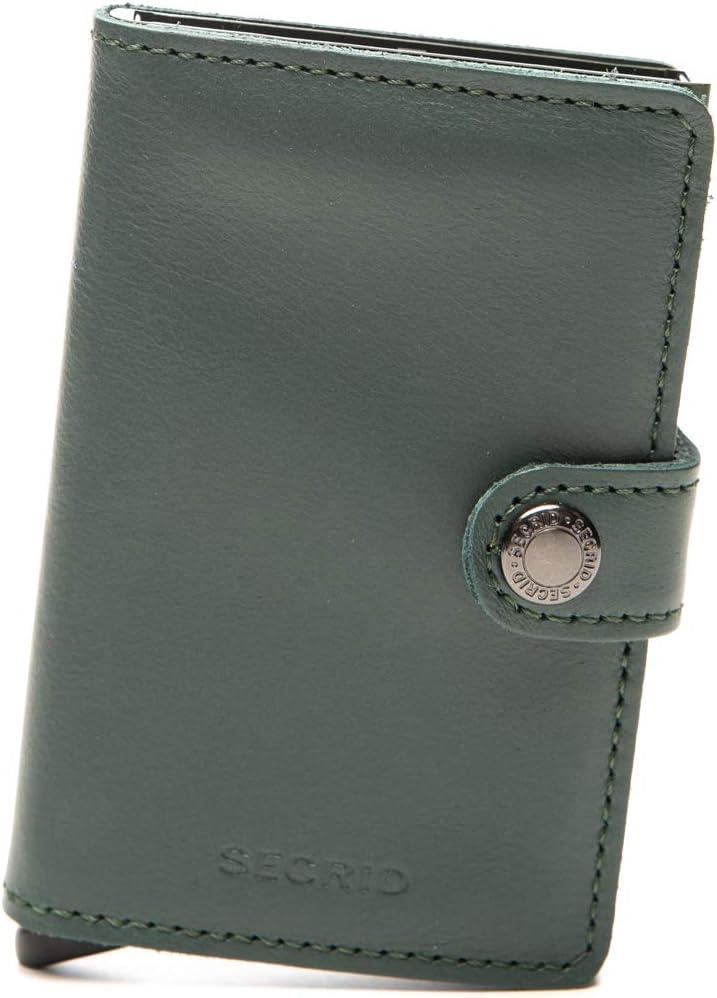 SECRID - Secrid Men Mini Wallet Genuine Original Leather RFID Safe Card Case for max 12 cards (Green)