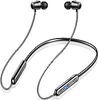【Bluetooth 5.1 颈带 Bluetooth 耳机 】Ennice 运动 无线 耳机 带磁铁 挂脖式 蓝牙 耳机 最长可连续播放20小时 跑步用 耳机 可同时连接 多点 Hi-Fi 高音质 内置麦克风 IPX7防水 自动配对 多点...