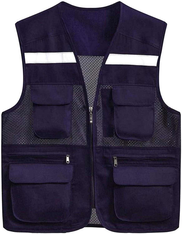 WOAIM Vis 40% OFF Cheap Sale Vest Purple Reflective and Breathabl shipfree Light Safety