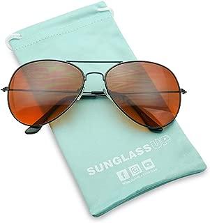 SunglassUP Classic 80's Retro Blue Blocking Casual Sunglasses Aviator Style