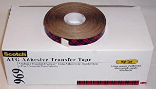 Scotch ATG High-Tack Adhesive Tape 969 1/2 in x 36 yds