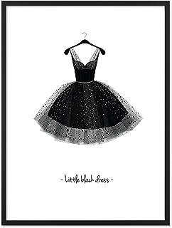 Poster Design avec Cadre Photo Noir 'Vêtement' 30 x 40 cm, Motif Mode, Noir et Blanc, Décoration
