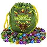 Product Image of the Wiz Dice Halfling's Haversack - 140 Mini Polyhedral Dice, 20 Colors in Complete...