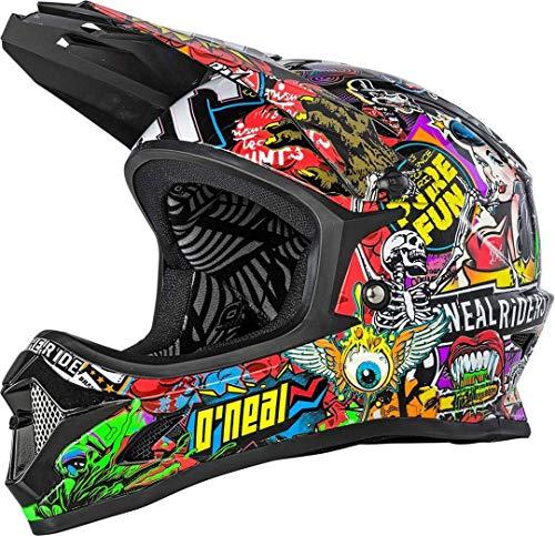 O'NEAL Backflip Crank Youth Kinder DH Fahrrad Helm schwarz/Multi 2020 Oneal: Größe: M (48-50cm)