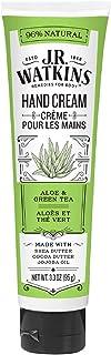 J.R. Watkins Natural Moisturizing Hand Cream, Aloe & Green Tea, Single, Hydrating Hand Moisturizer with Shea Butter, Cocoa...