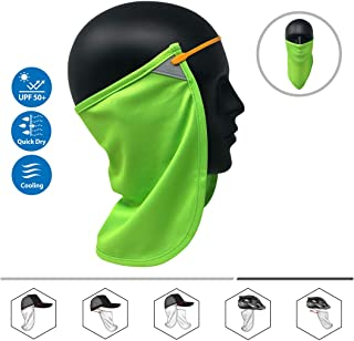 Neck or Face Sun Mask | 1 Product 2 Uses | Removable Universal Fit Headband + Flap | Cap | Hat | Bike | Ski | Hard Hat Helmets UPF 50+ Patented Multifunctional Headwear