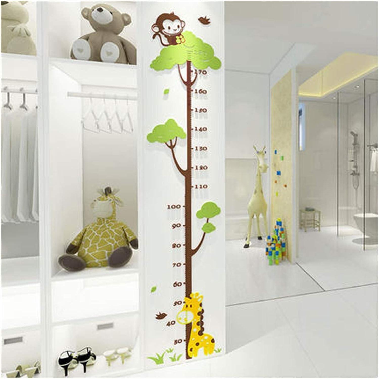 WEIXIAO WLKH Wall Nashville-Davidson Mall Stickers for Giraffe Kids Height Monkey Award-winning store Rooms