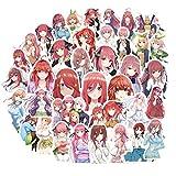 BAIMENG Anime los quintillizos por Excelencia en Relieve Cartel Figura Nakano Ichika Nino Miku Yotsuba Itsuki Pegatina para Regalos 50 unids/Set