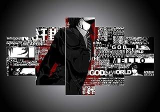 XIAYF Death Note Anime 5 PièCes Tableaux Artistique Decoration Murale DéCoration De La Maison Peinture posters et arts déc...