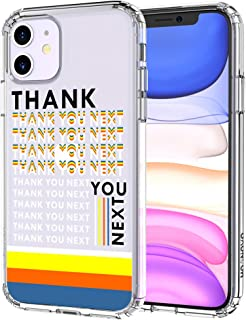 MOSNOVO iPhone 11 Case, Thanks You Next Pattern Clear Design Transparent Plastic Hard Back Case with TPU Bumper Protective Case Cover for Apple iPhone 11 (2019)