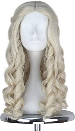 Synthetic Wigs Miss U Hair Synthetic 80cm Long Straight Men Hair Ash Blonde Color Unisex Halloween Movie Cosplay Costume Wig Hair Extensions & Wigs