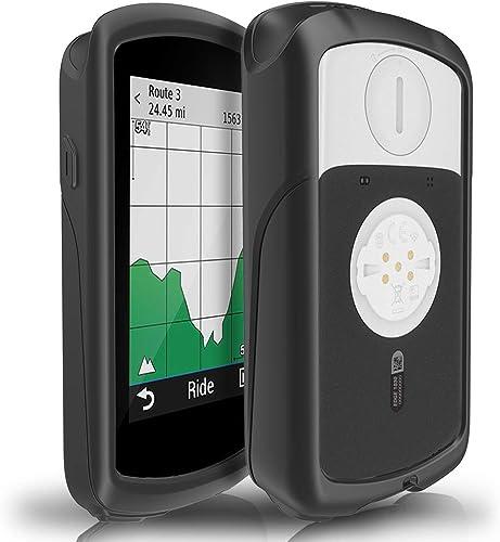 TUSITA Cas pour Garmin Edge 1030 - Housse de Protection en Silicone Peau - Ordinateur de vélo Accessoires GPS