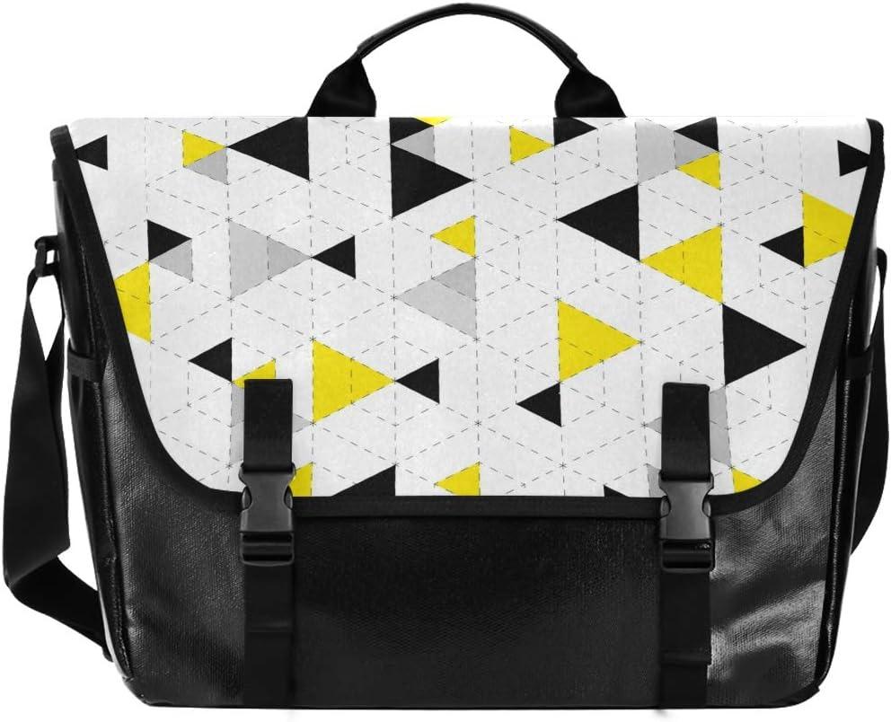 Messenger Bag Super sale [Alternative dealer] period limited Geometric Pattern Briefcase Unisex Satchel Office