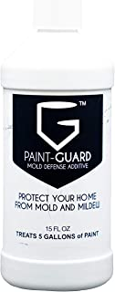 Paint-Guard Mold Prevention Paint Additive - Mix Into Paint to Protect Walls, Ceilings, Cabinets, and Bathrooms from Mold and Mildew Growth (1, 5 Gallon Treatment)