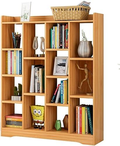 Bücherregal aus Holz BookRack, 15-Shelf-Bücherregal, Artistic Book Organizer, PlatzSpaßende CDs Alben Buchhalter Regalst er zur Aufbewahrung von Holzregalen