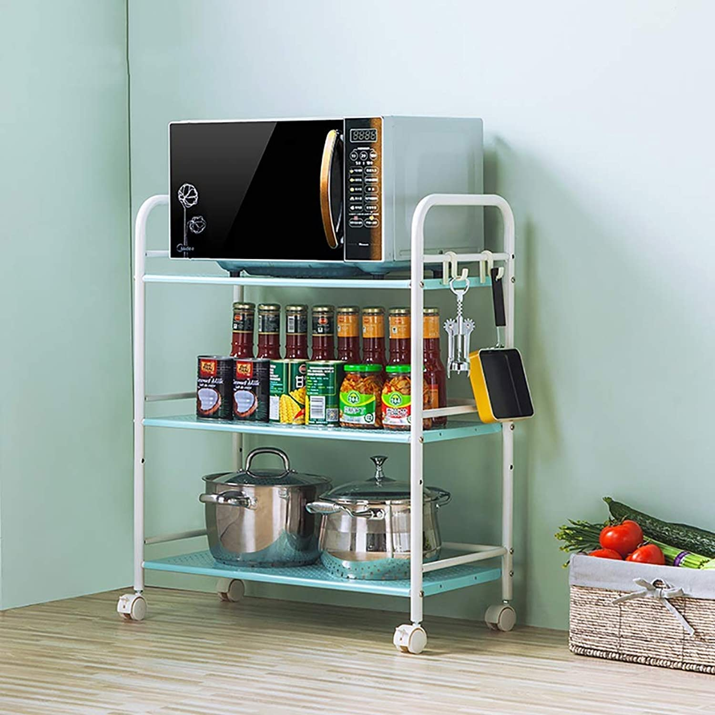 3 Tier Kitchen Trolley On Wheel Vegetable Fruit Storage Unit Kitchen Rack Basket