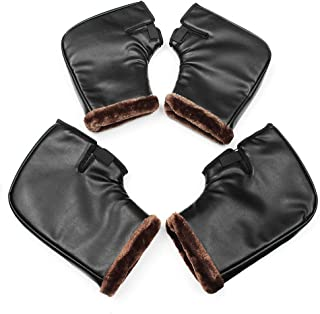 Hitommy Winter Warm Windproof Motorcycle Motorbike Scooter Handlebar Grip Muffs Gloves - Big£¨L£