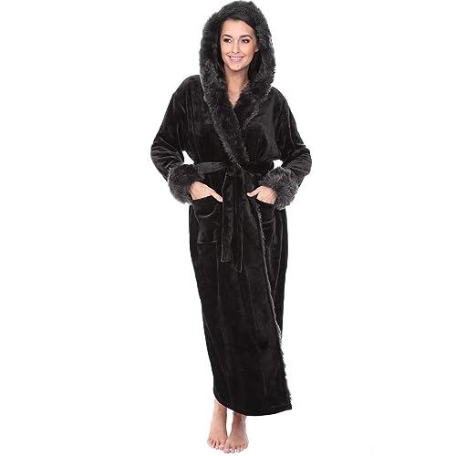 Alexander Del Rossa Womens Fleece Solid Robe 44c38cf6f
