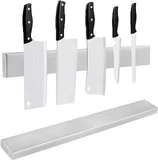 AYITOO Soporte Magnético para Cuchillos, 40CM Cuchilla Magnética Acero Inoxidable,Soporte para Cuchillos para Cocina, Montaje en Pared Barra magnética para Cuchillos