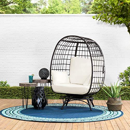 sunjoy patio furniture sets Sunjoy Laura Swivel Egg Cuddle Chair, Brown