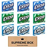 EXTRA Gums Variety Pack of 9,Peppermint, Polar Ice, Winter-fresh, SugarFree Gum (135 Pieces Total)