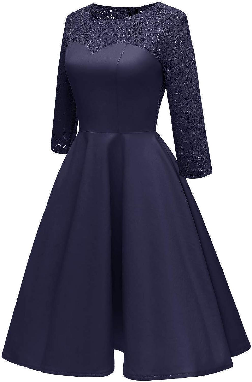 Molly Moda Vestito da Sera Cerimonia Damigella Donna in Tulle Pizzo e Chiffon