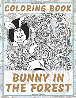 Bunny in the forest - Coloring Book
