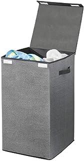 mDesign panier à linge pliable en polypropylène respirant – sac pour lessive design pour buanderie, salle de bain, etc.– t...