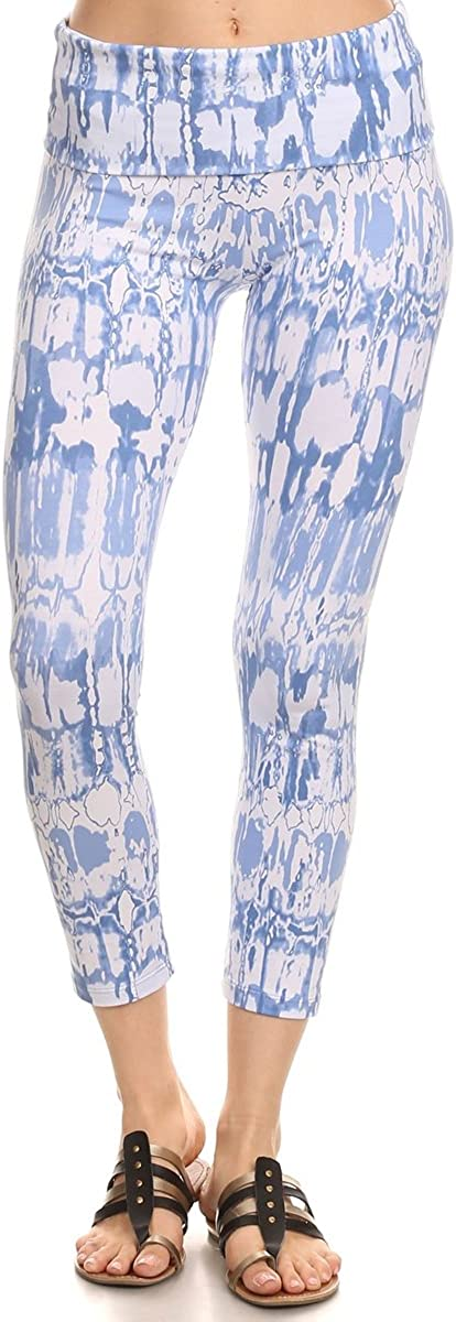 Gym pants, Yoga Pants for her Green Tie Dye Geometric Yoga Capri Leggings Part of a set